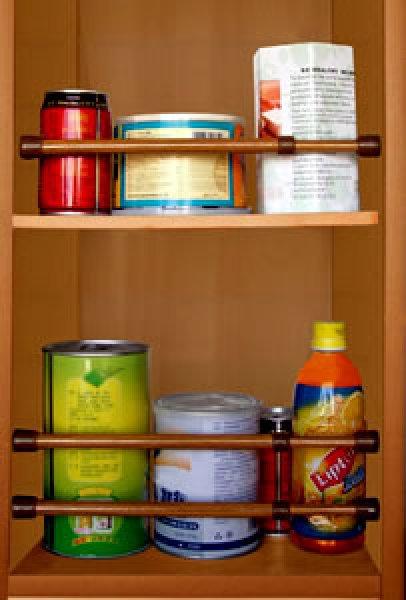 画像1: 冷蔵庫、キャビネット用シングルバー 3パック 木目 (1)