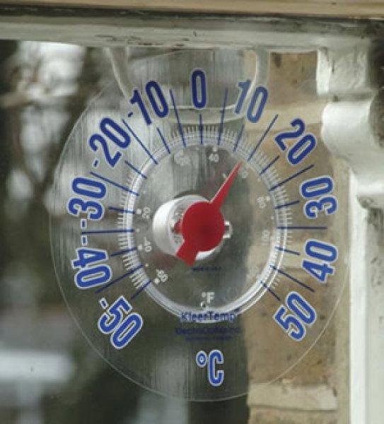 画像1: 窓ガラス温度計 日本仕様 (1)